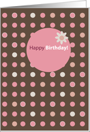 Polka Dots Birthday card