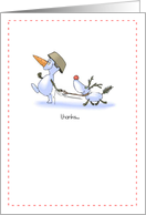 thanks snowdog, snowman card