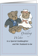 Goddaughter, Wedding Bear Wishes card