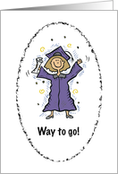 Girl graduate Purple and gold card