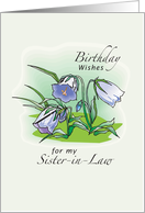 Birthday Wishes Flowers Sister-in-Law card