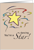 You're a Dancing Star! card