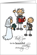 Thank you for the Wedding Ceremony card