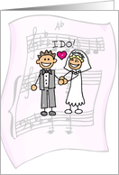 THANK YOU for Wedding Music, Stick Figures card