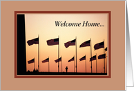 Welcome Home from Military Service, Support Our Troops, American Flags card