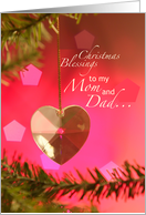 Christmas Blessings to my Mom and Dad card