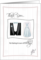 Thank You for being in our wedding! card