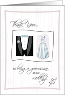 Thank You for being a Groomsman at our wedding! card