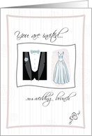 You are invited to a WEDDING BRUNCH card