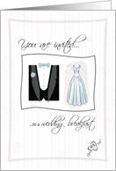 You are invited to a WEDDING BREAKFAST card