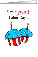 Labor Day with Patriotic Cupcakes card