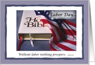 Labor Day Bible Flag card