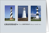 Granddad, Your birthday always stands out Lighthouse card