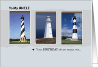 Uncle, Your birthday always stands out Lighthouse card
