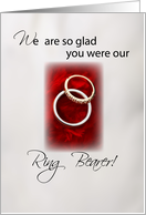 So glad you were RING BEARER Thank you card