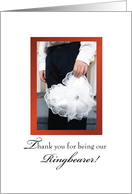 Thank you Ring BEARER! Boy with Ring Bearer Pillow, Wedding card