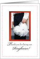 Thank you Ring BEARER! card