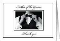 Father of Groom Thank You card