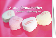 Grandmother, Valentine's Day and Every Day card
