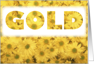 Girl Scout Gold Award, Congratulations with Daisy Flowers card