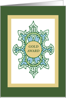 Girl Scout Gold Award Congratulations, Success, High Honor card