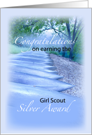 Girl Scout Silver Award Congratulations, Forest card