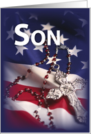 SON Flag and Rosary card