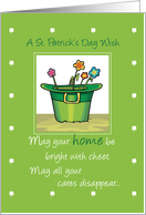 NEW HOME St. Patrick's Wish card