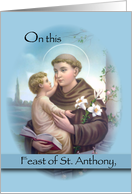 Feast Of St. Anthony Of Padua card