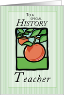 History Teacher Thank You card