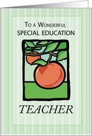 Special Education Teacher, Thank You with Apples, Nature card
