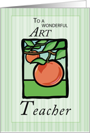 Art Teacher Thank You card