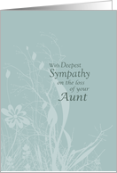 Sympathy loss of AUNT card