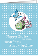 BROTHER and Sister-in-Law - EASTER card