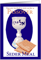 Invitation Seder Meal card