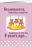 Granddaughter 3 Years Old card