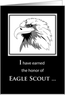 Eagle Scout Project Thank You with Eagle Illustration card