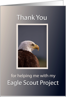 Eagle Scout Project Thank You with Eagle card