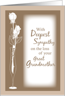 Sympathy Great Grandmother White Roses card