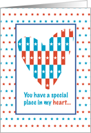 Patriotic Place in Heart card