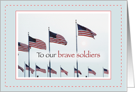 Patriotic Brave Soldiers card