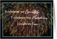Patriotic Celebrate Country, Freedom, You card
