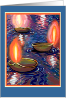 Diwali Three Floating Candles card