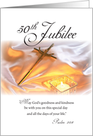 Golden Jubilee Religious Life with Crucifix & Candle, 50th Anniversary card