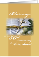 50th Anniversary Blessings Priesthood card
