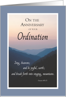 Anniversary of Ordination Congratulations, Heaven and Earth, Scripture card