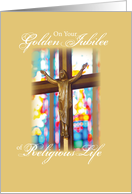 Golden Jubilee Religious Life Stained Glass card