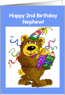 Nephew, 2nd Birthday Bear card