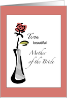 Mother of the Bride Rose card