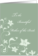 Mother of the Bride Swirls card